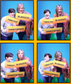 Joyce Seitzinger and I being silly in a photobooth for the Canberra Tourist board.